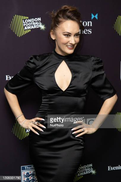 Frankie Poultney attends London Football Awards at The Roundhouse on March 05 2020 in London UK