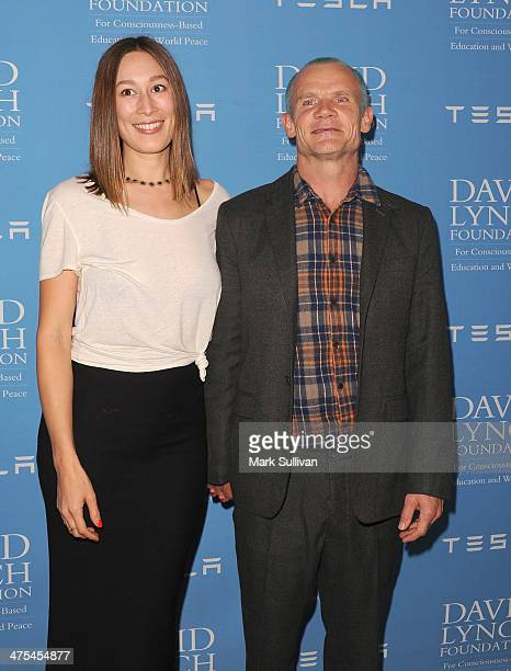 Frankie Rayder and Flea attend The David Lynch Foundation Award Gala honoring Rick Rubin at Regent Beverly Wilshire Hotel on February 27 2014 in...