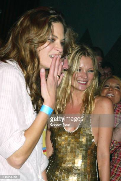 Frankie Rayder and Kate Moss during Picture This Debbie Harry and Blondie by Mick Rock Book Launch Party Inside at Hiro Ballroom at The Maritime...