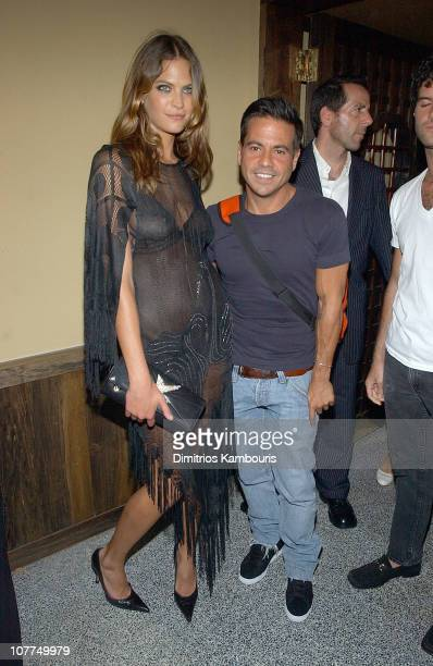 Frankie Rayder and Narciso Rodriguez at the W Magazine party for Kate Moss