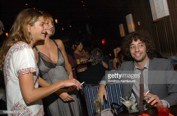 Frankie Rayder Helena Christensen and Albert Hammond Jr of The Strokes