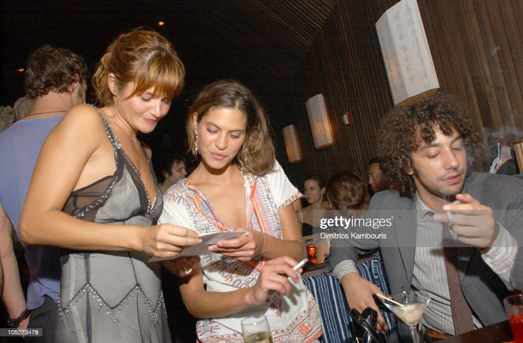 Frankie Rayder, Helena Christensen and Albert Hammond Jr. of The Strokes