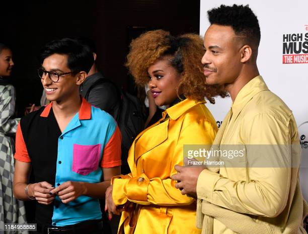 Frankie Rodriguez Dara Renee Mark St Cyr attends the Premiere Of Disney's High School Musical The Musical The Series at Walt Disney Studio Lot on...