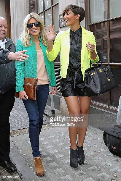 Frankie Sandford and Mollie King are seen on May 08 2012 in London United Kingdom