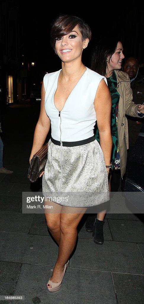 Frankie Sandford at Amika night club on March 24, 2013 in London, England.