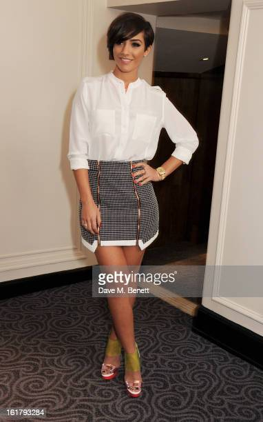 Frankie Sandford attends the Moschino cheapchic show during London Fashion Week Fall/Winter 2013/14 at The Savoy Hotel on February 16 2013 in London...