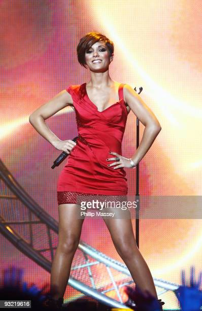 Frankie Sandford from The Saturdays performs at the Cheerio's Childline Concert on November 18 2009 in Dublin Ireland