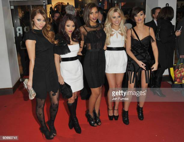 Frankie Sandford Mollie King Una Healy Rochelle Wiseman Vanessa White of The Saturdays attend the World Premiere of 'A Christmas Carol' at the Odeon...