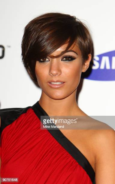 Frankie Sandford poses at the launch of the Samsung Genio Touch at Proud Camden on September 14 2009 in London England