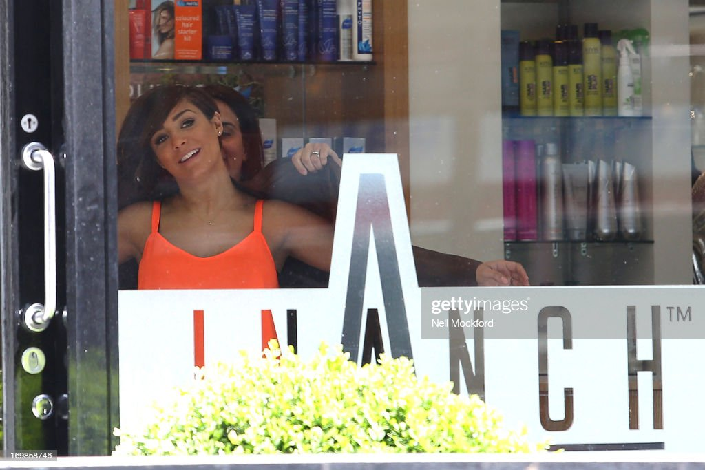 Frankie Sandford Seen At Inanch Hair Salon Getting Extensions On June 3 2013 In