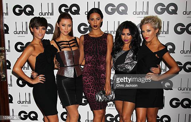 Frankie Sandford Una Healy Rochelle Wiseman Vanessa White and Mollie King of The Saturdays attend the GQ Men Of The Year Awards at The Royal Opera...