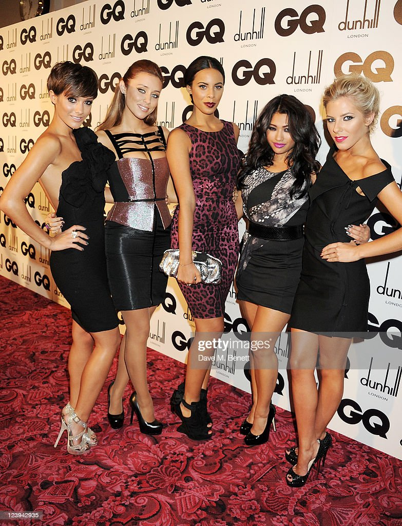 Frankie Sandford, Una Healy, Rochelle Wiseman, Vanessa White and Mollie King of The Saturdays arrive at the GQ Men Of The Year Awards 2011 at The Royal Opera House on September 6, 2011 in London, England.