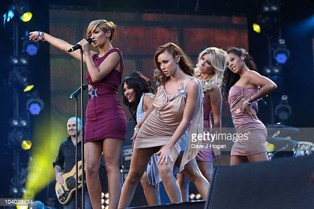 Frankie Sandford Vanessa White Una Healy Mollie King and Rochelle Wiseman of The Saturdays perform at the Help The Heroes Concert 2010 held at...