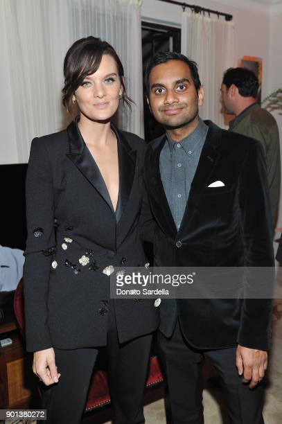 Frankie Shaw and Aziz Ansari attend W Magazine's Celebration of its 'Best Performances' Portfolio and the Golden Globes with Audi Dior and Dom...