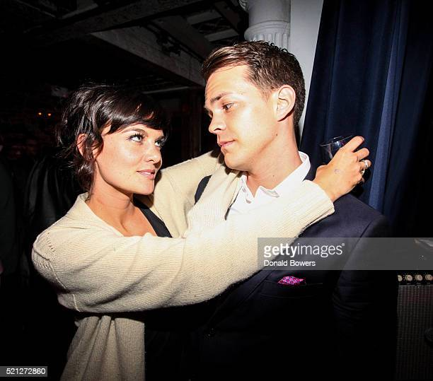 Frankie Shaw and Johnny Simmons attend The 2016 Tribeca Film Festival After Party For Dreamland At Berlin on April 14 2016 in New York City