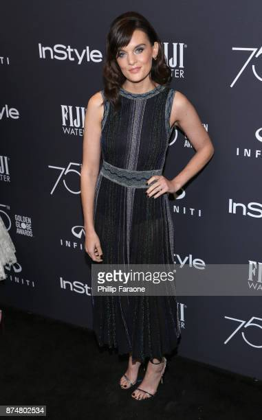 Frankie Shaw attends the HFPA's and InStyle's Celebration of the 2018 Golden Globe Awards Season and the Unveiling of the Golden Globe Ambassador at...