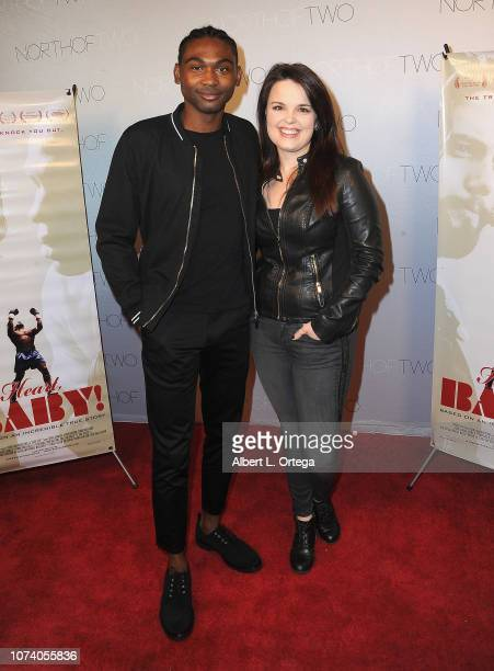 Frankie Smith and Kimberly J Brown arrive for the premiere of 'Heart Baby' held at The Ahrya Fine Arts Laemmle Theater on November 23 2018 in Beverly...