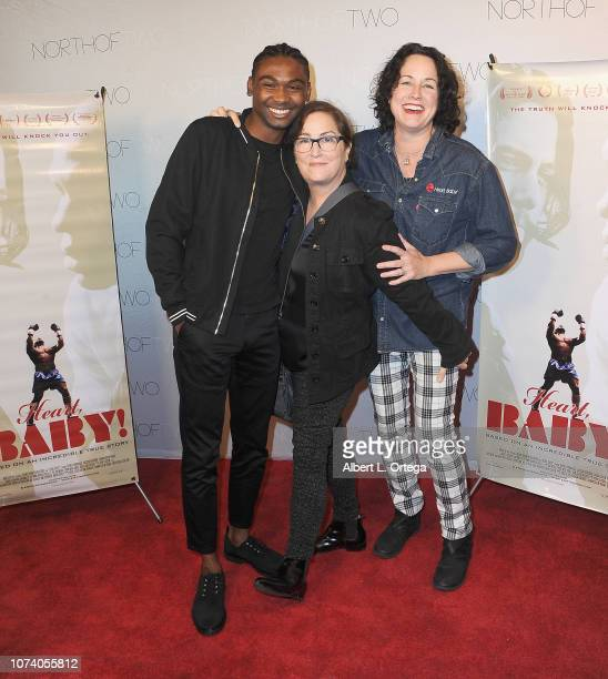 Frankie Smith Jillian Armenate and Angela Shelton arrive for the premiere of 'Heart Baby' held at The Ahrya Fine Arts Laemmle Theater on November 23...