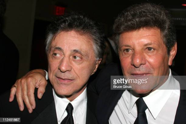 Frankie Valli and Frankie Avalon during Opening Night After Party for 'Jersey Boys' on Broadway at The August Wilson Theater and The Marriott Marquis...