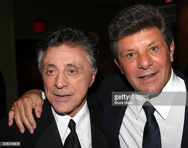 Frankie Valli and Frankie Avalon during Opening Night After Party for Jersey Boys on Broadway at The August Wilson Theater and The Marriott Marquis...