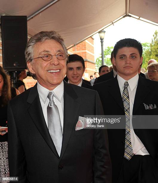 Frankie Valli and his son Francesco Valli attend the 3rd Annual New Jersey Hall of Fame Induction Ceremony at the New Jersey Performing Arts Center...