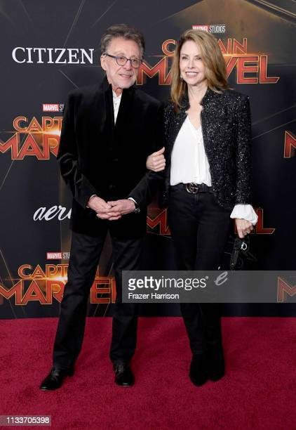 Frankie Valli and Jackie Jacobs attends the Marvel Studios Captain Marvel premiere on March 04 2019 in Hollywood California