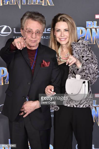 Frankie Valli and Jacqueline Jacobs attend the Premiere Of Disney And Marvel's Black Panther Arrivals on January 29 2018 in Hollywood California