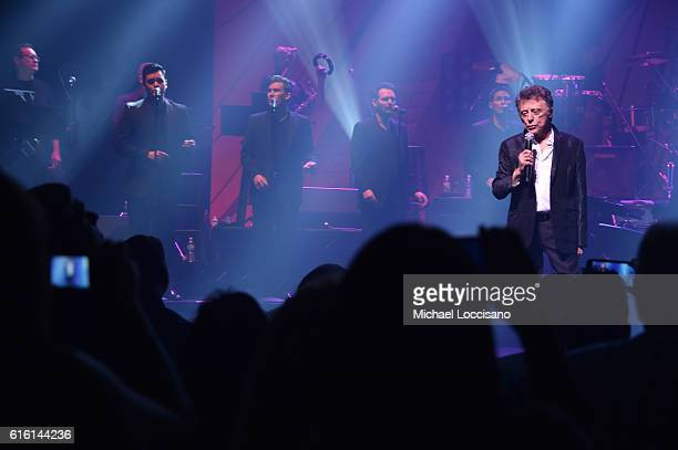 Frankie Valli And The Four Seasons perform at 'Frankie Valli And The Four Seasons' Broadway Opening Night at LuntFontanne Theatre on October 21 2016...