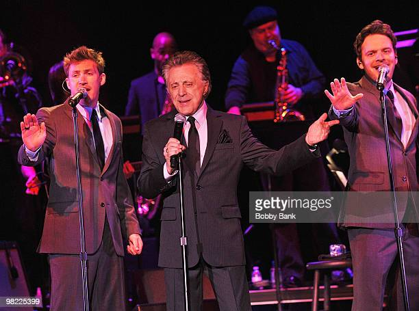 Frankie Valli and The Four Seasons perform at the Borgata Hotel Casino Spa on April 2 2010 in Atlantic City New Jersey