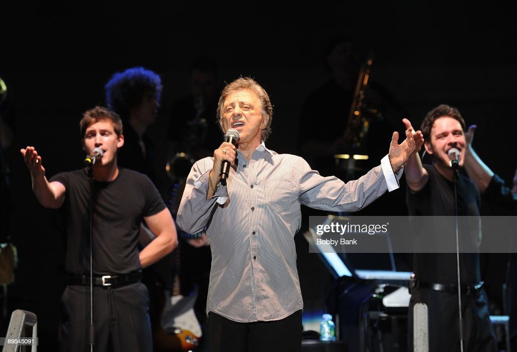 Frankie Valli and The Four Seasons perform during the 31st Annual Seaside Summer Concert Series at Asser Levy Park, Coney Island on July 30, 2009 in New York City.