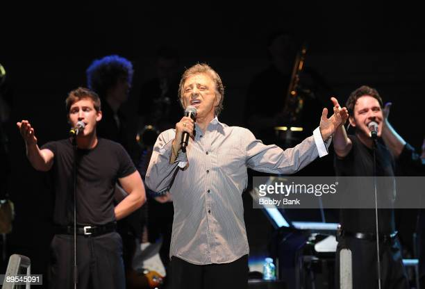 Frankie Valli and The Four Seasons perform during the 31st Annual Seaside Summer Concert Series at Asser Levy Park Coney Island on July 30 2009 in...