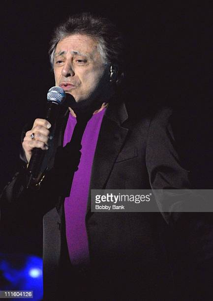 Frankie Valli during Frankie Valli and The Four Seasons Headline at Count Basie Theatre May 9 2007 at Count Basie Theatre in Red Bank New Jersey...