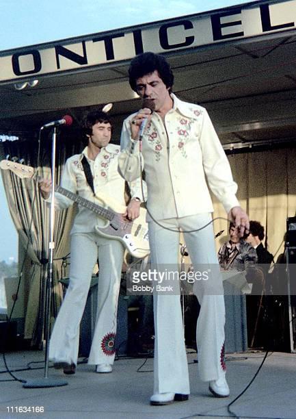 Frankie Valli during Frankie Valli in Concert at Monticello Raceway July 1974 at Monticello Raceway in Monticello New York United States