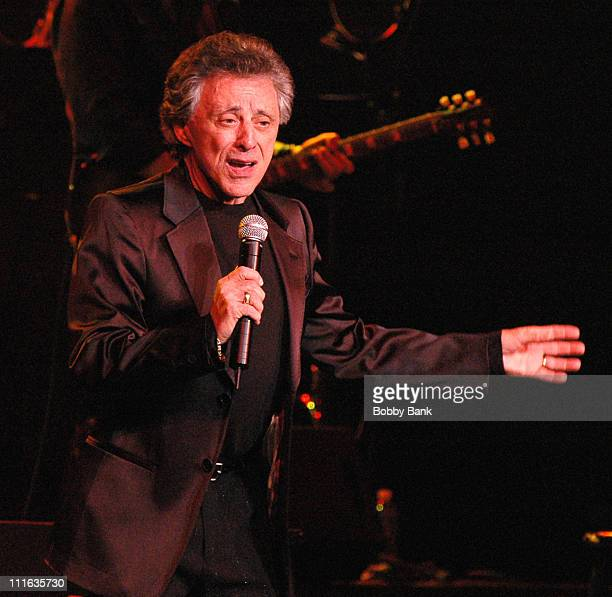 Frankie Valli during Frankie Valli in Concert at the State Theatre in New Brunswick - March 7, 2007 at State Theatre in New Brunswick, New Jersey,...