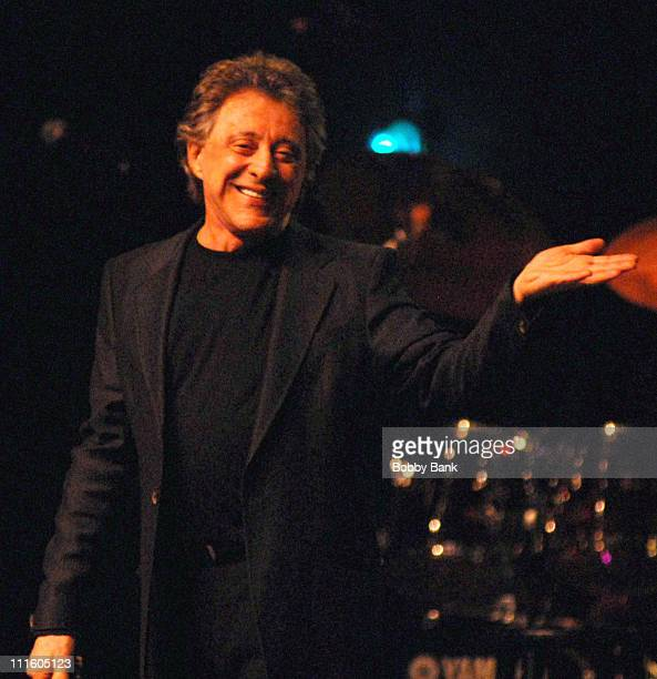 Frankie Valli during Frankie Valli The Four Seasons Encore Show May 11 2007 at Count Basie Theatre in Red Bank New Jersey United States