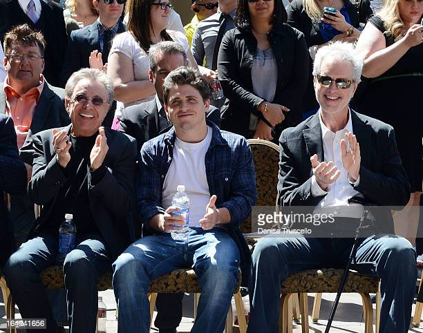 Frankie Valli Francesco Valli and Bob Gaudio during the Frankie Valli And The Four Seasons star unveiling at the Las Vegas Walk Of Stars in front of...
