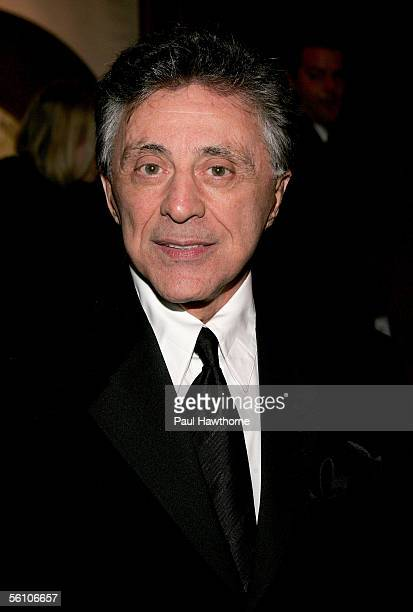 Frankie Valli of Frankie Valli and the Four Seasons attends the play opening night of Jersey Boys after party at the Marriott Marquis November 6 2005...