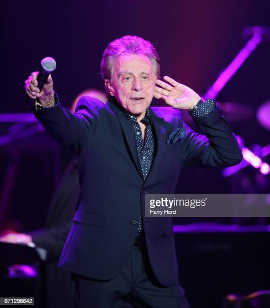 Frankie Valli of Frankie Valli The Four Seasons performs at BIC on April 21 2017 in Bournemouth United Kingdom