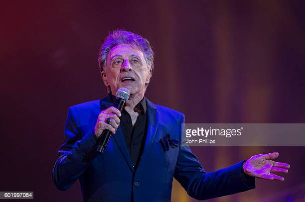 Frankie Valli of The Four Seasons performs during the BBC Proms In The Park at Hyde Park on September 10 2016 in London England