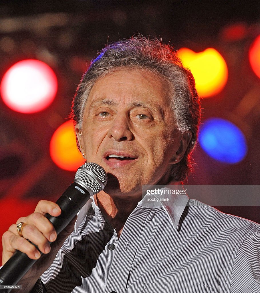 Frankie Valli performs during the 31st Annual Seaside Summer Concert Series at Asser Levy Park, Coney Island on July 30, 2009 in New York City.