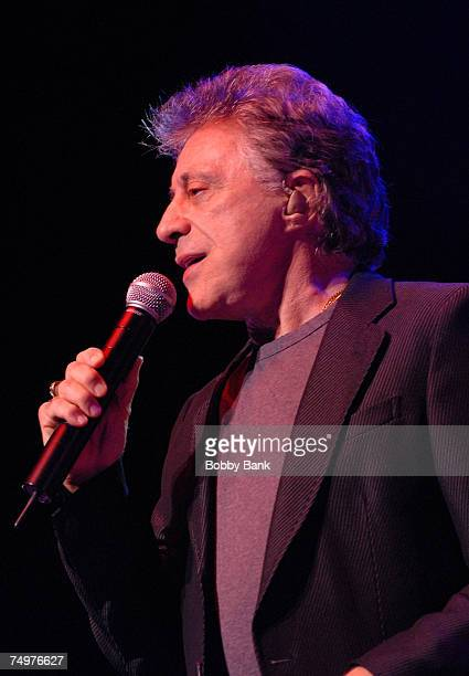 Frankie Valli performs on stage at the Mountain Laurel Center on June 30 2007 in Bushkill Falls Pennsylvania