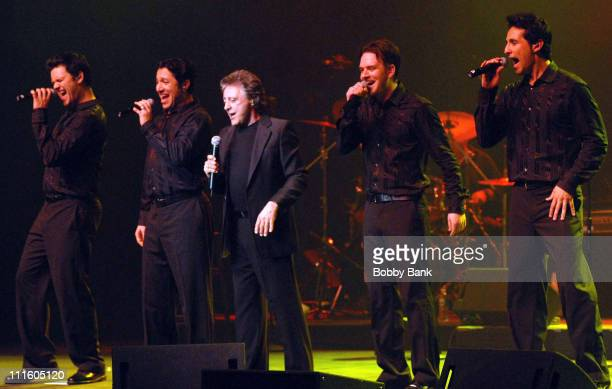 Frankie Valli The Four Seasons during Frankie Valli The Four Seasons Encore Show May 11 2007 at Count Basie Theatre in Red Bank New Jersey United...