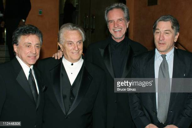 Frankie Valli, Tommy DeVito and Bob Gaudio of The Four Seasons with Robert De Niro