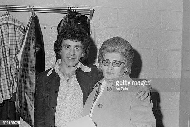 Frankie Valli with a friend circa 1970 New York