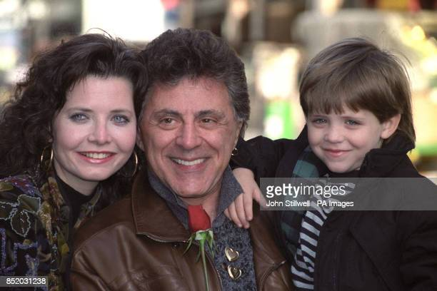 Frankie Valli with his wife Randy and son Francesco outside the London Palladium where he will be appearing in March