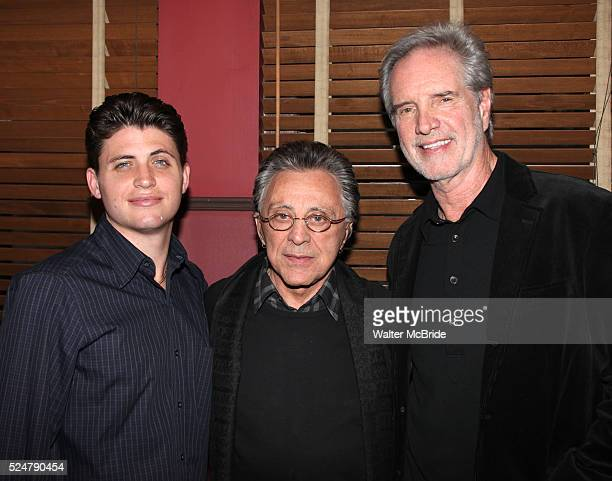 Frankie Valli with son Francesco Bob Gaudio attending the unveiling of the Sardi's Portraits of Frankie Valli Bob Gaudio Marshall Brickman Rick Elice...