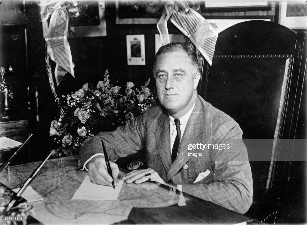 Frankl D. Roosevelt;  president of the United States of America. Photograph. November 9th 1932. (Photo by Imagno/Getty Images) Franklin D. Roosevelt; Präsident der USA. Photographie. 9.11.1932. : News Photo