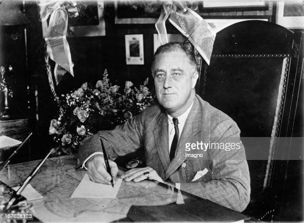 Frankl D Roosevelt president of the United States of America Photograph November 9th 1932 Franklin D Roosevelt Präsident der USA Photographie 9111932