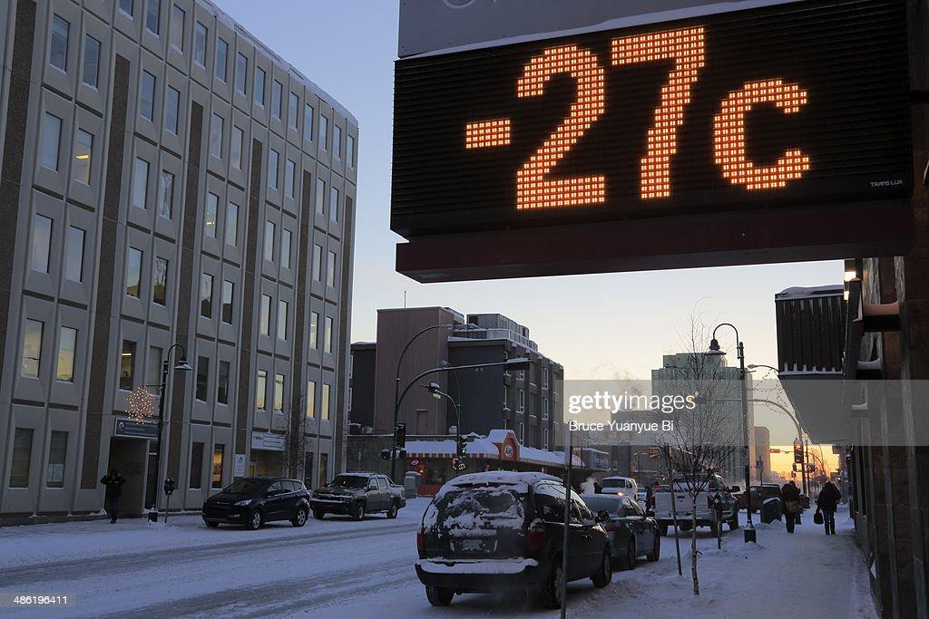 Franklin Avenue in winter : Stock Photo
