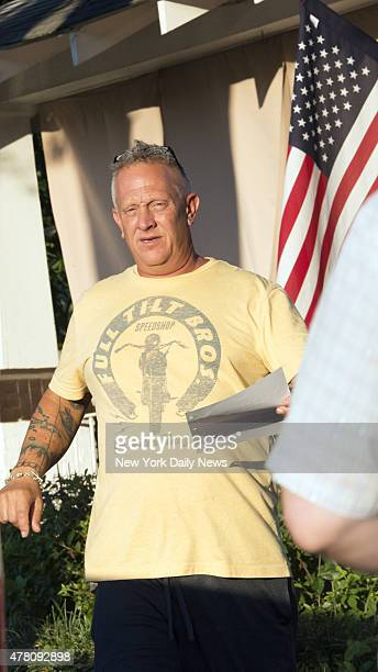 Franklin Bennett father of Dylann Roof suspect on AME Church shooting in Charlotte South Carolina outside his home in Columbia South Carolina Friday...